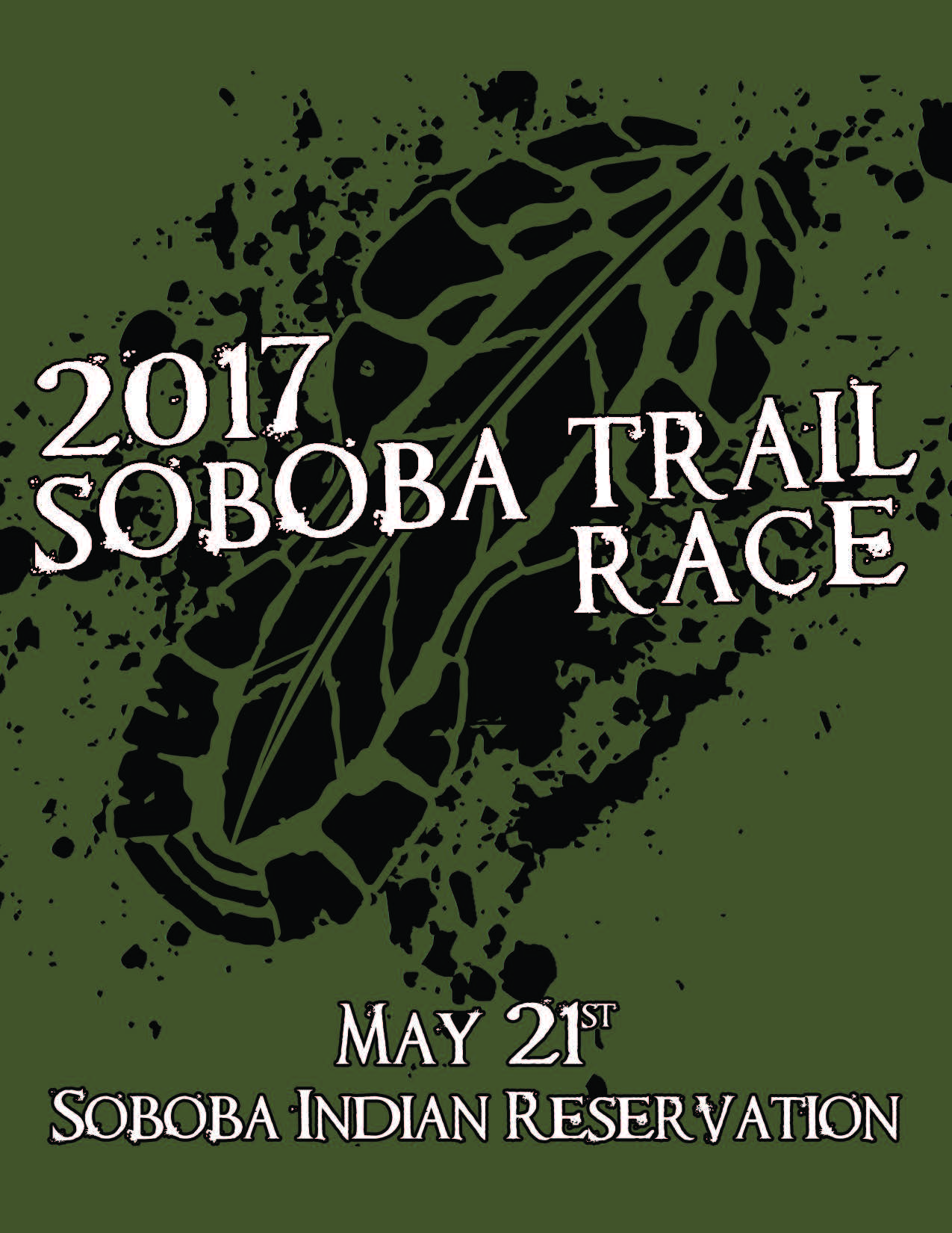 Trail race flyer front