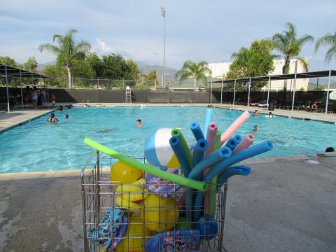 The Soboba Sports Complex pool was the place to be during the recent End of Summer Bash for community members