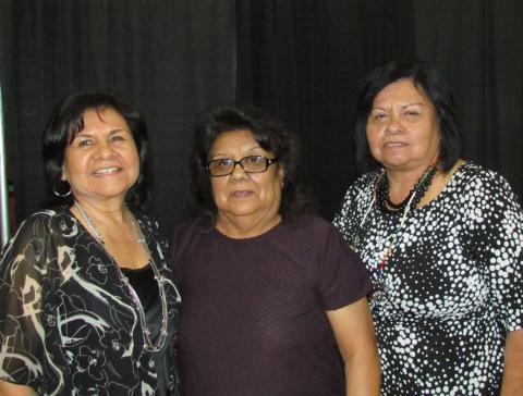 Soboba Elders Board members were also the New Year's Eve Celebration committee. From left, Raina Maciel, Carlene Masiel and Francie Diaz