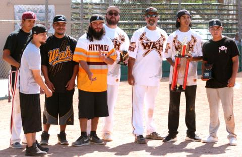 WAH men's team took first-place honors at the Robert Morreo Memorial Fastpitch Softball Tournament last month at Soboba