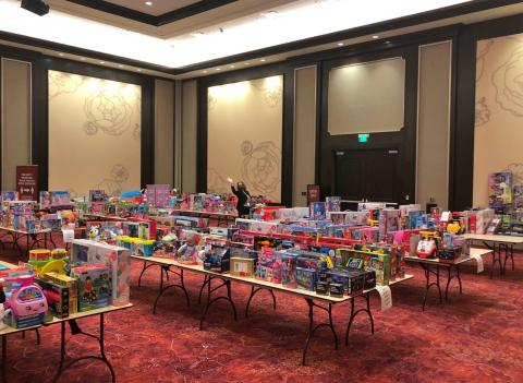 Sanitized toys await distribution to nonprofits that made the list of the Soboba Foundation's annual philanthropic Soboba Gives Back! Toy Drive, in conjunction with Soboba Casino Resort