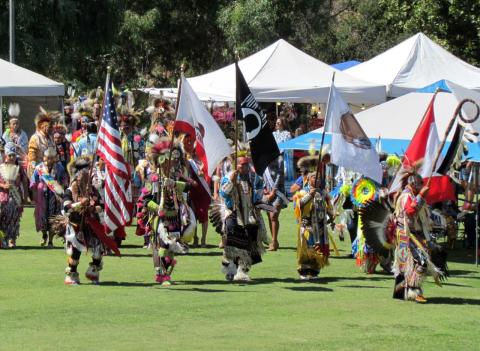 A Grand Entry was held at 1 p.m. and again at 8 p.m. as part of the one-day powwow held at the Soboba Band of Luiseño Indians Reservation on Sept. 21.