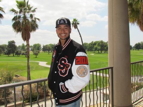 Ajay Parcero lettered in baseball at San Jacinto High School