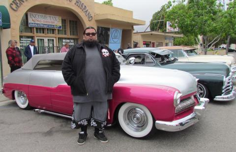 Matthew Basquez displayed his 1949 silver and pink Mercury along with other cars from members of the Inland Empire Originals car club at the recent San Jacinto Cinco de Mayo festivities in downtown San Jacinto