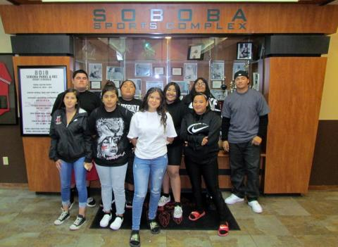 The Soboba Youth Council meets regularly at the Soboba Sports Complex to plan community service activities