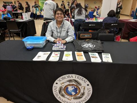 Jennifer Salazar, at a community outreach event, was recently hired as the Environmental Manager for the Soboba Tribal Environmental Department