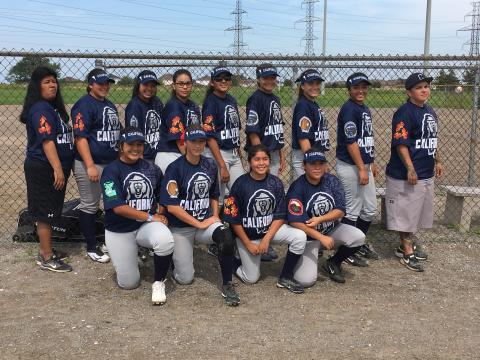 Team California at the 2017 North American Indigenous Games in Canada