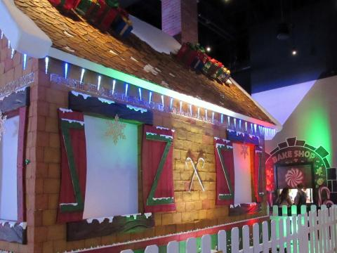 A 22-ft. tall gingerbread house has been constructed inside Soboba Casino Resort just in time for the holiday season. A bake shop with sweet treats is also open for a limited time