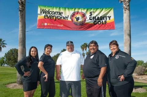 Soboba Foundation members from left, Geneva Mojado, Sally Ortiz, Isaiah Vivanco, Patrick Placencia and Dondi Silvas
