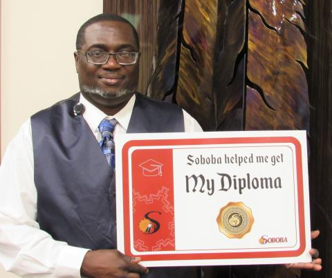 Hemet's Dayshawn Townsend credits his new employer, Soboba Casino Resort, with helping him realize a decades-long goal of completing his high school diploma