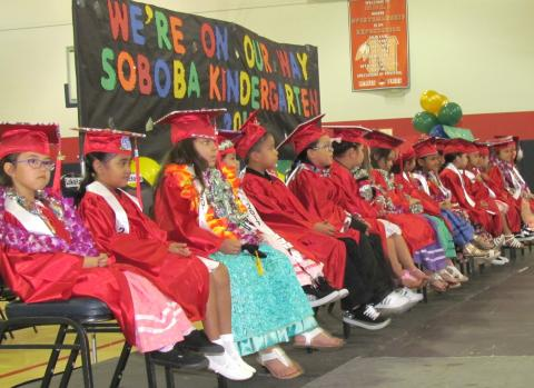 Soboba Tribal Preschool graduated 17 students from its kindergarten class on June 2