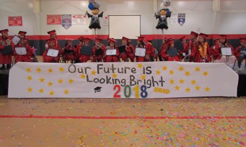 Pre-Kindergarten students from Soboba Tribal Preschool were officially promoted on June 15; three-quarters of the children have enrolled in kindergarten at the same site for fall