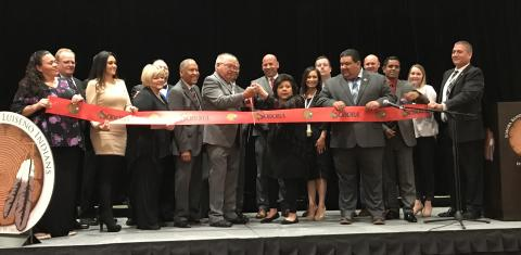 A ribbon cutting ceremony highlighted the Dignitaries' Grand Opening Celebration on March 26 at the Soboba Casino Resort Event Center