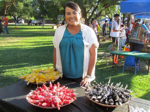 Soboba's Cultural Resource Specialist Jessica Valdez prepared and presented sage bundles at the San Jacinto Heritage Festival on Oct. 21