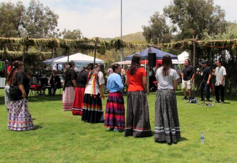 Bird Singers and Dancers were a popular attraction at Soboba's Fiesta on May 18