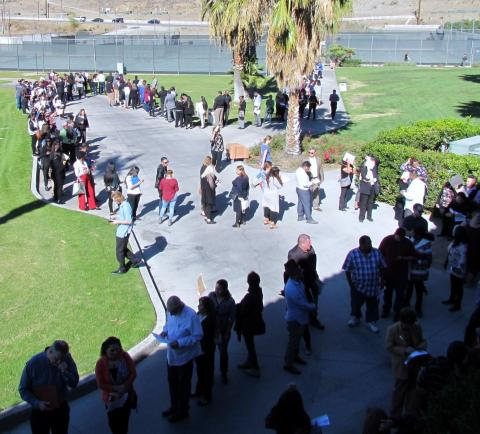 More than 1,000 job seekers attended a job fair on Nov. 26 for the Soboba Casino Resort, set to open in the new year