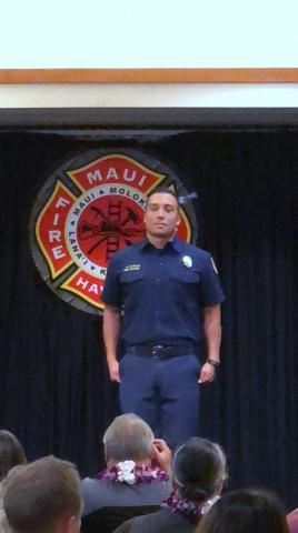 Soboba Tribal Member Michael Allen Castello recently graduated from the Maui County Fire Department Academy