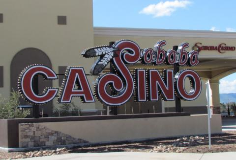 The iconic Soboba Casino sign that graced the entrance to the legacy facility built in 1995 has found a home at the Soboba Casino Resort – a reminder of how the past is an important part of the future