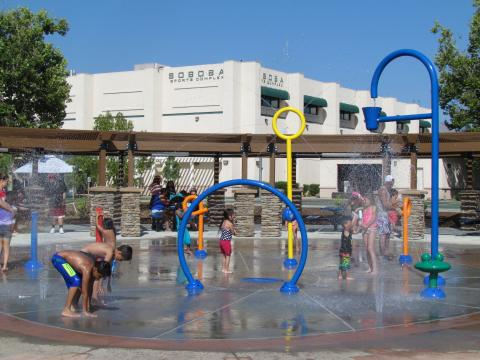 The new Splash Pad was an instant hit when the Soboba Sports Complex re-opened on July 5, after a six-month renovation project
