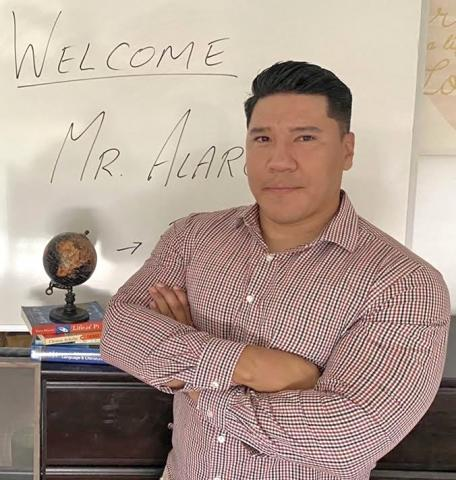 Teacher Daniel Alarcon started the new school year at Noli Indian School on the Soboba Band of Luiseño Indians' Reservation