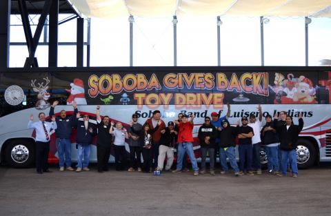Volunteers help with 2017's Soboba Gives Back Toy Drive