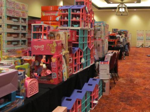 The Soboba Casino Resort Event Center meeting room was used to temporarily store more than 5,300 toys collected during this year's Soboba Gives Back! Toy Drive
