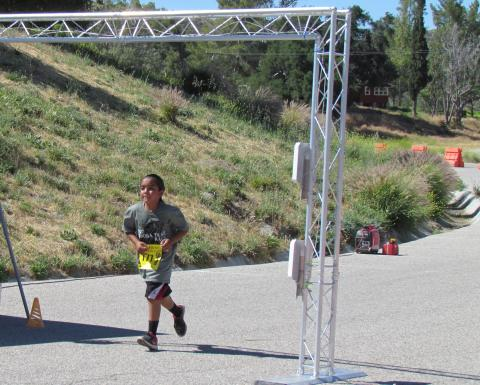 Abel Valdez, 9, was one of nearly 100 runners who crossed the finish line at the sixth annual Soboba Trail Race on May 21