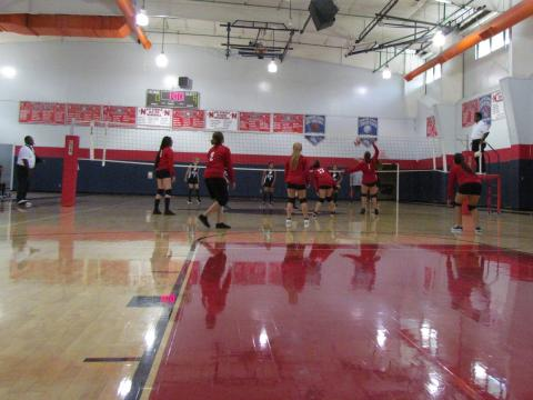 The Noli Indian Girls Volleyball team played its first game of the season against River Springs Magnolia at the Soboba Sports Complex on Aug. 21