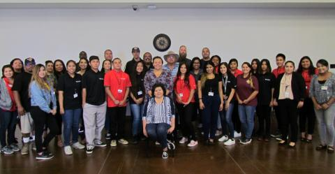 The WE LEAD Meet and Greet Luncheon on June 20 included Tribal Council members, work site supervisors, Soboba Tribal TANF program employees and the youth who were hired to work in the summer program at various jobs